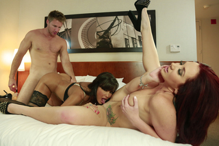 Jayden Jaymes , Lisa Ann & Levi Cash in Tonight's Girlfriend - Tonight's Girlfriend - Sex Position #7