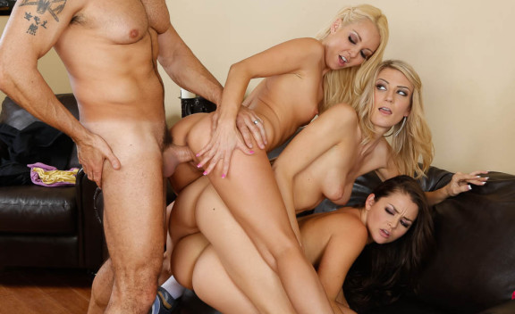 Aaliyah Love, Allie Haze, Amanda Tate - Sex Position #3